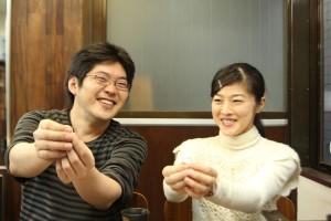 手作り結婚指輪M様記念写真