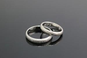 手作り結婚指輪K様リング写真